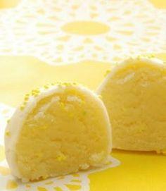 Lemon Cake Batter Truffles