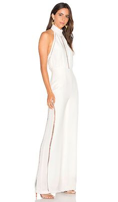 eca1629f4577 Shop for Misha Collection Mariella Silk Jumpsuit in Milk at REVOLVE.