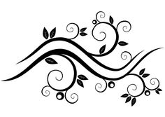 Flower branch with leaves vector - Free vector image in AI and EPS format. Free Vector Art, Vector Graphics, Raster To Vector, Indian Jewellery Online, Leaves Vector, Flower Branch, Black And White Illustration, Abstract Flowers, Tile Patterns