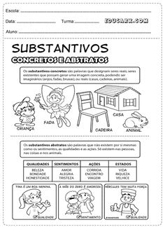 Substantivos concretos e abstratos