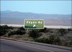 Zzyzx Road is a 4.5-mile (7.2 km) long, part paved and part dirt, rural collector road in the Mojave Desert, California