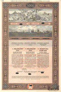 Muzeum cennych papiru A2295 ZEMSKÁ BANKA (dříve Zemská banka království Českého)