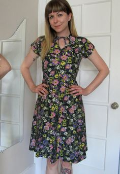 vintage 60's floral print textured dress by aNewLifeForYou on Etsy, $32.00