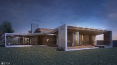 Contemporary luxury house with exclusive entrance, designed by Stoa Studio