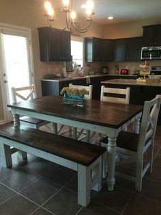 New home... same Simply Southern dining set.  Thanks to this client who sent us a picture of her set on their new home!
