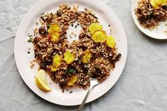 Warm Farro with Mushrooms and Crispy Beets Recipe on Food52 recipe on Food52