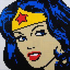 Mosaïque de LEGO Wonder Woman