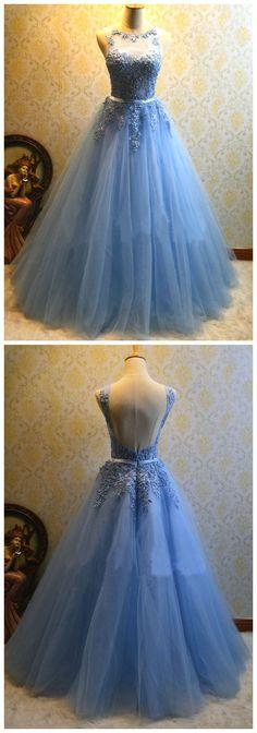 Charming Prom Dress, Elegant AppliquesTulle Prom Dress, Sleeveless Prom Dress, Long Evening Dress, Formal Gown F1826