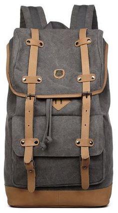 Canvas Travel Laptop School Backpack Premium Quality #cybermonday
