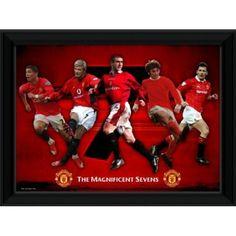 Manchester United, Wonderful Seven Graphic Art on Canvas Manchester United Gifts, David Beckham Manchester United, Manchester United Legends, Magnificent 7, Canvas Art, Canvas Prints, First Novel, Man United, Best Player