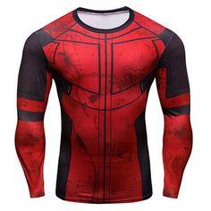 Deadpool Long Sleeve Compression Shirt