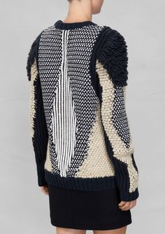 & Other Stories Texture-Knit Sweater