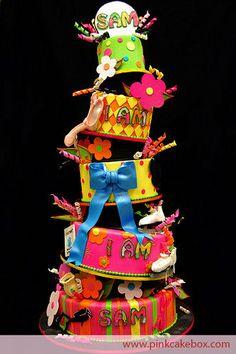 Cake defying gravity!