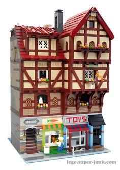 Modular Building – Melissa's Lego Hama Beads Minecraft, Perler Beads, Lego Modular, Lego Creator, Legos, Lego Police Station, Casa Lego, Art Hama, Lego Village