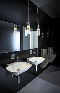 the LAUFEN 'modern sanitary rooms' reflect the trends of today's workplaces and how bathrooms are key to the health-conscious lifestyle of office employees. Laufen Bathroom, Washroom, Bathroom Sets, New Bathroom Designs, Bathroom Collections, Bathroom Furniture, Countertops, Sink, Product Launch