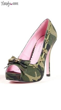 Put your best foot forward with Yandy's sexy shoes! From pumps to booties to sky high heels, let Yandy introduce you to your sole mate. Camo Heels, Shoes Heels, Pumps, Punk Rock Outfits, Pin Up Outfits, Cute Shoes, Me Too Shoes, Awesome Shoes, Nylons