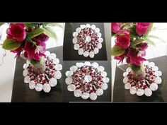 Origami, Floral Wreath, Wreaths, Videos, Youtube, Crafts, Craft Box, Diy And Crafts, Table Scapes