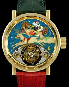 Alain Silberstein Tourbillon Cloisonne. Festive, for the holiday season.