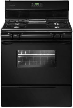 Frigidaire FFGF3011LB 30 Inch Freestanding Gas Range with Simmer Burner, Broiler Drawer, Even Baking Technology, Ready-Select Controls, Clock and Timer, 4 Open Burners and 4.2 cu. ft. Oven: Black