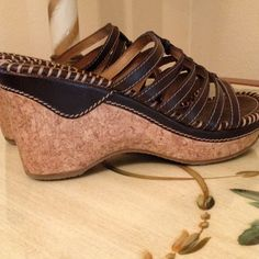 American Eagle Wedge Sandals EUC! Barely worn and begging for a new home! American Eagle Shoes Sandals