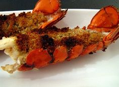 HCG Diet Baked Stuffed Lobster Tails