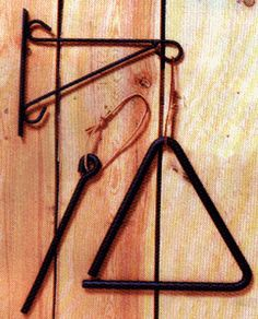 Metal Triangle Chime with Bracket
