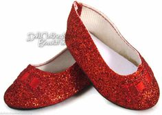 Red Glitter Ballet Flats Shoes for American Girl Doll Clothes Huge Selection | eBay