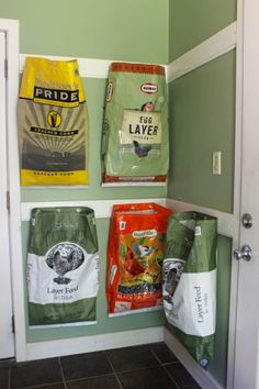 A great way to corral the recyclables in the mud room without taking up too much real estate.