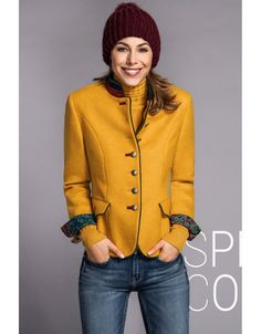 Rofa Fashion Clothing AW Collection wool jacket in warm colours to spice up your wardrobe for the coming season. Available from Irish Handcrafts. Fashion Group, Fashion Outfits, Irish Fashion, Warm Colours, Winter Wardrobe, Formal Wear, Cotton Linen, Spice, Blazer