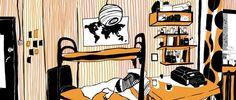My room by Polina Vasilieva, via Behance