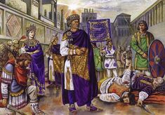 Emperor Justinian II, in the aftermath of the Nika Riots. Ancient Rome, Ancient History, Nika Riots, Byzantine Army, Medieval World, Early Middle Ages, Roman Emperor, Dark Ages, Military History