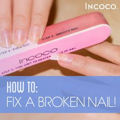 Broken nails are no fun! Click to learn the easiest way to fix a broken nail!