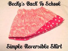 Becky's Back-to-School Free Reversible Skirt