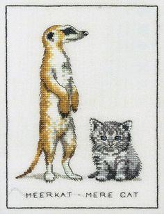 Meerkat, Mere-Cat Cross Stitch Kit   sewandso