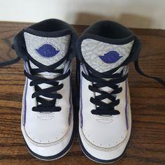 Kids' Clothing, Shoes & Accs Popular Brand Brand New Air Jordan Retro 2 Bg Dark Concord Size 7y Delicious In Taste