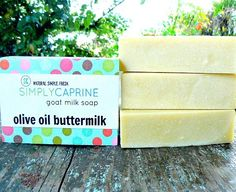 Newly Infused!  This unscented gentle soap is made using only organic olive oil, infused with organic calendula flowers and goat's buttermilk. Mild and modest… simply the best!  $6.95