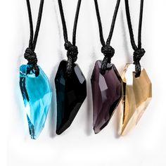 Cool Rock Men Women Crystal Wolf Tooth Adjustable Pendant Necklace Jewellery