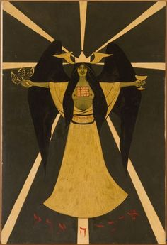 """""""Holy Guardian Angel according to Aleister Crowley"""" by Marjorie Cameron.  http://en.wikipedia.org/wiki/Holy_Guardian_Angel http://en.wikipedia.org/wiki/Marjorie_Cameron"""