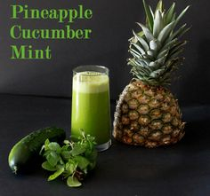 Juice recipe for weight loss.    Pineapple, Cucumber, Mint Juice    1/2 ripe pineapple  2 cucumbers  1 bunch of mint  Run all ingredients through juicer and enjoy!