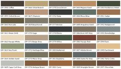 "I'm thinking ""Wrangler Brown"" or ""Antique Brass"", for the deck. Behr Deck Over Color Chart Behr Deck Paint, Deck Over Paint, Porch Paint, Brown Paint Colors, Paint Colors For Home, House Colors, Gray Paint, Stain Colors, Behr Deck Over Colors"