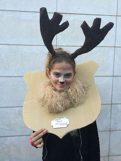 Beware Of the Moose/ Hunt trophy / DIY costume / Disfraz trofeo de caza