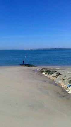 Pêcheur seul face au Bassin 03/2014