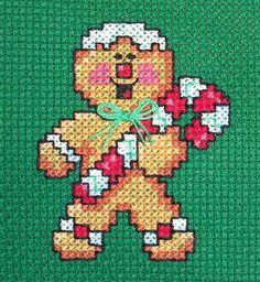 Cross Stitch Gingerbread Man