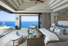 This Cliffside Los Cabos Villa Offers Sweeping Views of the Sea Architectural Digest, Bungalows, Modern Lake House, Villas, Expensive Houses, Bonus Rooms, Luxurious Bedrooms, Luxury Living, My Dream Home