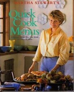 #27- You basically are her in a nutshell.. minus the stint in the clink. QUICK COOK MENUS  by Martha Stewart    Vintage 80s   by BunnysLuck, $4.99