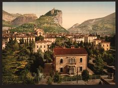 """""""From the south, Arco, Lake Garda, Italy"""" (ca. 1890-1900) - Library of Congress"""