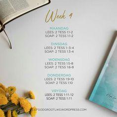 1 & 2 Tessalonisense -  WEEK 4 - DIE HOOP VAN CHRISTUS SE WEDERKOMS - Leesplan