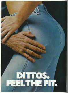 Dittos advertising, 1975.