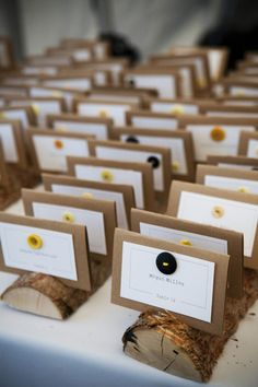 Bring the outdoors in by using tree branches to hold your escort cards.