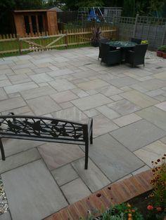 Wiltshire garden paving
